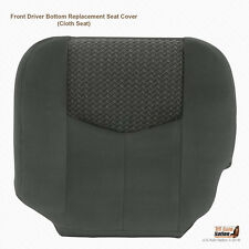 2003 2004 Chevy Avalanche 1500 & 2500 Driver Bottom Cloth Seat Cover Dark Gray