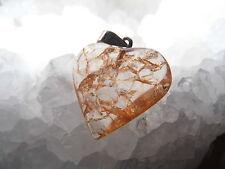 Crujido Cuarzo Colgante Corazón plata de ley Reino Unido Libre Embalaje Y Envío