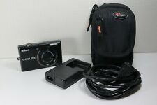 Nikon COOLPIX S570 12.0MP Digital Camera - Black - With Case, Battery & Charger