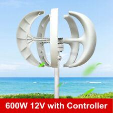 12V 600W white Wind Turbine Generator 5 Blade Vertical Axis & Controller SALE