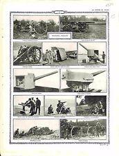 British Army English Hardware Matériel Anglais Canon Campagne field-gun 1914 WWI