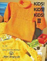 Kids, Kids, Kids Vol. 3 Knitting Patterns Lane Borgosesia Children's Sweaters