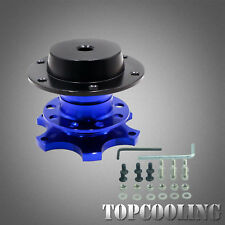 Racing Car Blue Steering Wheel Quick Release Snap Off Boss Kits
