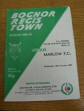 25/10/1989 Bognor Regis Town v Marlow [FA Trophy Replay] . Thanks for viewing ou