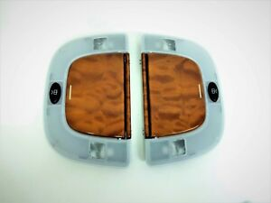 MERCEDES W220 S600 REAR OVERHEAD DOME DESIGNO WOOD VANITY LIGHT MIRROR LIGHTS