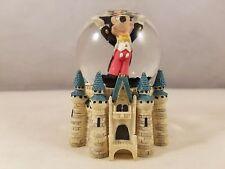 Disney Parks Mickey Mouse Cinderella Castle Mini Water Snow Globe Glitter Resin