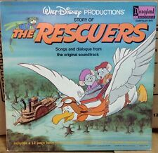The Rescuers  Disneyland Record Story illustrated Book