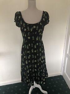 Collectif Carmen Cactus Dress, Size 10