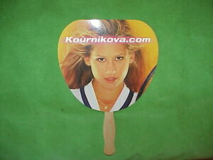 VTG ULTRA RARE Anna Kournikova Paddle Fan Photo Promo from US OPEN - 1999? MINT