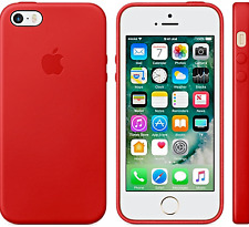  | Apple iPhone 5 5S SE - Leder Hülle - Farbe: ROT / Product RED - NEU & OVP !