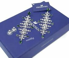 Swarovski Perfection Chandelier Pierced Earrings RHS GREEN/CLEAR Crystal 5496837