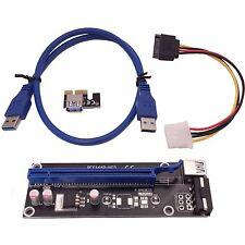 Regno Unito PCI-E 1x a 16x alimentata USB 3.0 Extender Riser Adapter Card BITCOIN LITECOIN