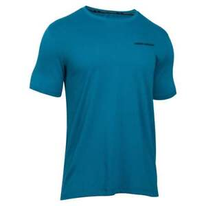 Under Armour Men's Charged Cotton Short Sleeve Blue T-Shirt (Size's M L XL) NEW