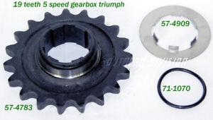 57-4783 19 teeth sprocket & tap washer 5speed Triumph T140 TR7V 19 Zähne ritzel