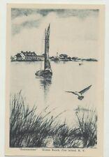 "J.A.R. Duntze etching 1939 Ocean Beach, Fire Island, NY ""Summertime"" Bay view"