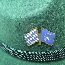 Bavarian HB Flag Oktoberfest Hat Pin Large