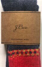 J CREW Colorblock wool-blend socks