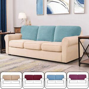 Elastic Fleece Sofa Back Cover Backrest Cushion Cover Sretch Slipcover Protector