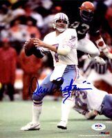 Dan Pastorini autographed signed 8x10 photo NFL Houston Oilers PSA COA