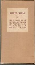 Pierre Louÿs, coffret de 4 livres illustrés à La Bonne Compagnie
