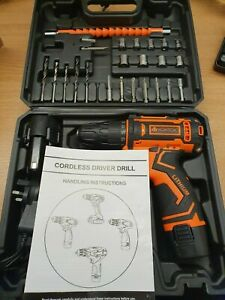 Vontox 12v Drill and bit driver kit set WITH 2 X  batteries cordless