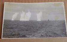 Postcard Fall Of Shot From HMS Renown's 15 Inch Guns RPPC  1930's