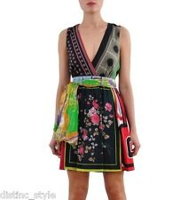 ICONIC D&G Signature CHIC 2012 multi colors scarves print silk Dress size 42