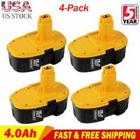 4x NEW For Dewalt 4.0Ah 18V NiCD Battery DC9096 DC9099 DE9095 DW9095 Power Tools