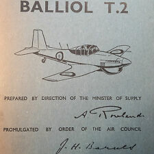 Boulton-Paul Balliol T2 with Merlin 35 Engine Pilots Notes POH Type Book