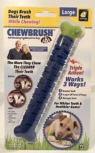 ChewBrush  As Seen On TV  For Dog Blue  Self Brushing Toothbrush