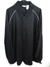 Men's Size 4XL Reebok Black Full Zip Snap Button Activewear/Track Jacket