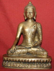 Vintage Handcrafted Solid Brass Budha Sculpture