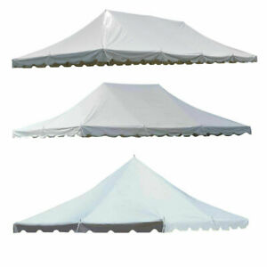 Replacement Pole Tent Canopy Top White 20x20' 20x30' & 20x40' Waterproof Vinyl