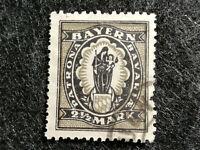 "Altdeutschland Bayern 1920 - 2 1/2 M  ""Abschiedsausgabe"" , gestempelt"