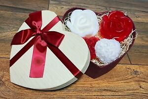 Rose Soap Love Heart Gift Set