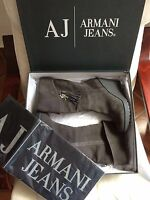 Armani Jeans AJ Shoes Boots Botas LEATHER 41 UK 7.5 USA 9.5 NEW WITH TAGS & BOX