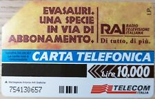 SCHEDA TELEFONICA RAI - ADOTTA UN EVASAURO L. 10.000 (454)