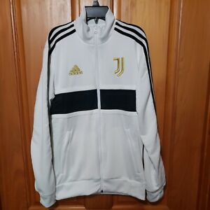 Adidas Juventus 3-Stripes Track Jack Men Small Football Full Zip White [FR4221]