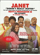 JANET JACKSON Doesn't Really matter TRADE AD POSTER for NUTTY PROFESSOR CD MINT