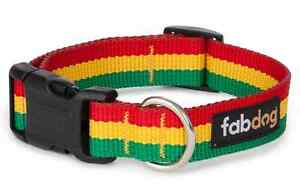 Fab Dog Rasta Collars and Leads, Assorted Sizes, Made from recycled bottles PET