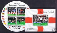 Gibraltar 2004 European Football MS SG 1087 MNH
