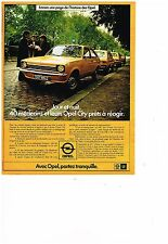 PUBLICITE ADVERTISING  054  1977  OPEL CITY