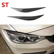 For BMW F32 F36 F82 F83 M4 F80 Front Eyelid Eyebrow Headlight Cover Carbon Fiber