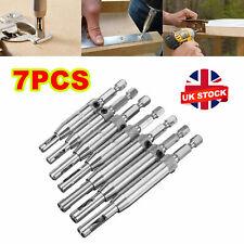 More details for 7x self centering lock hinge drill bit set hardware drawer pilot hole guides uk
