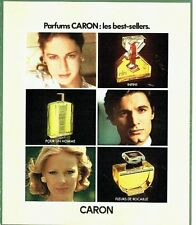 PUBLICITE ADVERTISING 0217  1978   parfums Caron les best-sellers Infini fleur r