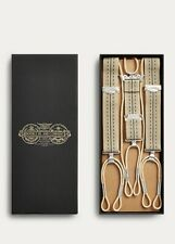 RRL Ralph Lauren Striped Cotton Jacquard Suspenders Braces Men's NWB New