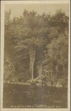 Belgrade Lakes ME Pine Beach Camp c1915 Real Photo Postcard