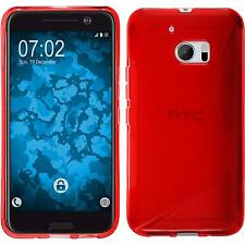 Htc 10 TPU funda cover S-style rojo protector de pantalla