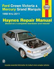 Crown Victoria and Grand Marquis Haynes Repair Manual for 1988 thru 2011