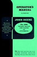 John Deere 290 Tractor 2 Corn Planter Operators Manual